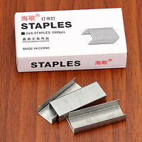 2 Box 1000PCS/Box No.12 24/6 Staples Silver Steel Staples For Office Stapler