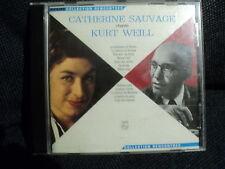 "RARE! CD ""CATHERINE SAUVAGE chante Kurt Weill"""
