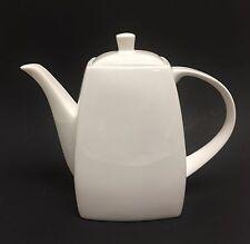 NEW MERITAGE SOLID WHITE CERAMIC,TEA,COFFEE POT,TEAPOT 7 CUPS ,56 OZ.