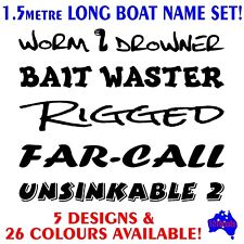 1.5m Tinny,Runabout,Half cabin,Fishing boat funny names marine decal sticker set