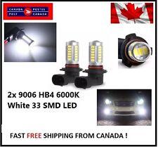 2x 9006 HB4 6000K White 5630 33 SMD LED 12V Auto Car Fog Light Headlight Bulbs