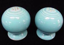 Vintage FIESTA Ware Salt and Pepper Shaker Globes Sky Blue (AB697)