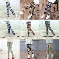 Christmas Children Trousers Printing Legging Flower Print Baby Girls Pencil Pant