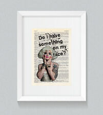 RuPaul Pearl Do I Have Something On My Face Vintage Dictionary Book Print Art