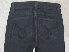NYDJ Lift Tuck Straight Black Jeans USA Sz 0 EUR 30 High Waist Crystal Pocs