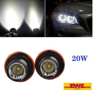 2 × 10W LED Angel Eye Maker Standlicht für BMW E39 E53 E60 E87 X3 X5 1er 5er