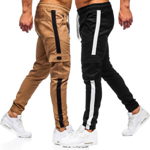 Mens Overalls Sport Long Pant Jogger Fitness Sweatpants Training Sport Trousers