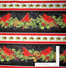 Christmas Cardinal Holly Stripe Cotton Fabric Wilmington Royal Red By The Yard