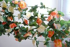 "4 x 90"" Orange Artificial Hangings Small Flowers Vine Garland"