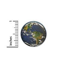 "Earth Button Explorer Traveler Pin Cheap Gift Save The Planet 1"" Geek Nerd #14-3"