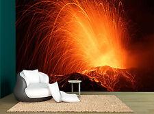 Volcano Erupting Fire Lava Magma Wall Mural Photo Wallpaper GIANT WALL DECOR