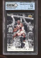Michael Jordan 1992-93 Upper Deck #TM5 Team MVP HOF Chicago Bulls GEM MINT 10