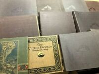 "11 RCA Victor STORAGE BINDERS FOR 78 RPM RECORDS - 10"" & 12"" VICTROLA NIPPER"