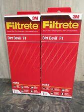 NEW Filtrete 3M HEPA Dirt Devil F1 Vacuum Filter Lot of 2 Free Shipping