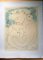!! SALE!! PABLO PICASSO + MATERNITÉ + SIGNED AND DATED  LITHOGRAPH COA MATERNITY