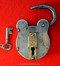 Steel & Brass SECURE 4 LEVER Made in Britain English Lever Padlock Lock Orig key