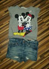 H&M Jeans Pumphose leichte Sommerhose und tshirt trägershirt top Gr. 86 98 104