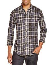 RAILS Plaid Black/Gray/White Soft Rayon Blend Button Front Shirt Mens XL $148