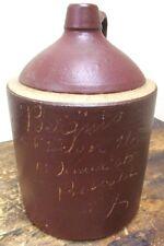 RARE 1800'S Bergin's Wine & Liquor Store Buffalo NY WHISKEY SCRATCH JUG