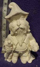 """8"""" Troll with walking stick and frog ready to paint ceramic bisque"""