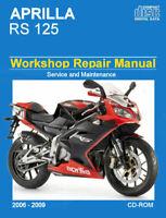 Aprilla RS 125 2006 - 2009 Workshop Service repair shop Manual download