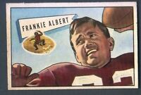 1952 Bowman Small Football Card  #5 Frankie Albert-San Francisco 49ers