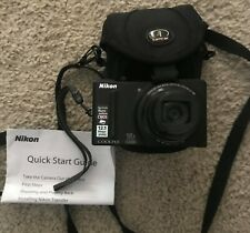 Nikon Coolpix model S9100 12.1MP Compact Digital Camera with 18x Zoom+case!
