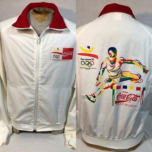 Vintage Coca Cola 1992 Barcelona Olympics Zip Up Jacket Men's Sz Large Swingster