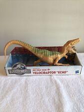 "Jurassic World Velociraptor Echo Dinosaur Figure New Mosc Hasbro 11"" 2015"