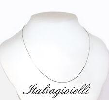 Collana Catenina Veneziana 45 cm. Uomo / Donna in Argento 925 rodiato Oro Bianco
