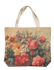 Victorian Trading Co NWD Pink Roses Nature's Book Tote Bag Canvas