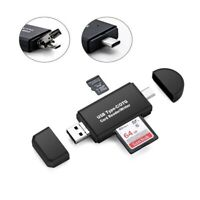 Type C USB 3 In 1 OTG Card Reader High Speed USB 2.0 Universal Smart Adapter