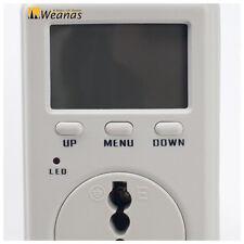 Consumption Meter Electricity Usage Monitor Power Energy Watt Volt Analyzer Plug