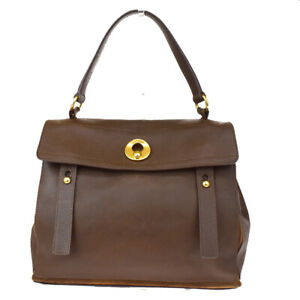 Authentic YVES SAINT LAURENT Muse Toe Shoulder Bag Suede Leather Brown 65MG881