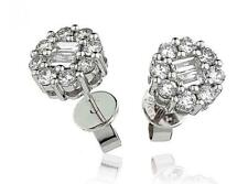Diamond Daisy Cluster Earrings 0.90ct F VS in 18ct White Gold