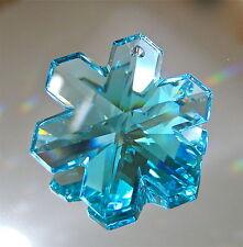 Swarovski Crystal Antique Green Snowflake Prism Ornament, 35mm Logo, Retired