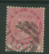 Dominica SG22w 1887 1d rose Wmk Inverted Used P14