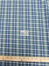 "TARTAN PLAID UNIFORM APPAREL FLANNEL FABRIC Olive/Blue 60"" WIDE BY THE YARD 4"