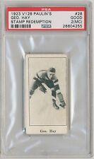 GEORGE HAY 1923-24 V128 Paulin's Candies #28 Stamp Redemption PSA 2 MC HOF