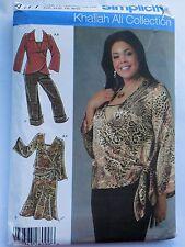 Sewing Pattern Simplicity 4477 Khaliah Ali Collection Plus Size 18W,20W,22W,24W
