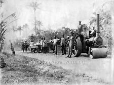 Photo. 1911. Oshogbo, Nigeria. Workers Building Railway Bridge