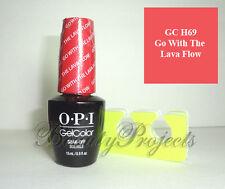 OPI GelColor Go With The Lava Flow GC H69 Soak Off LED/UV Gel .5oz +BONUS!