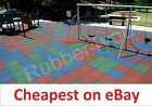 "BEST CHEAPEST Playground Rubber Safety Tile Mats 50cm x 50cm x 1"" thk"