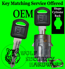 GM Chevy GMC OEM Single Door Key Lock Cylinder Tumbler Barrel 706592 2 Keys