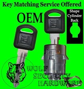GM Chevy GMC OEM Single Door Key Lock Cylinder Tumbler Barrel 706592 2 Keys