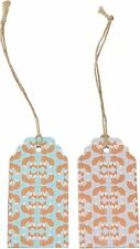 10 Threaded Foxy Foxes Luggage Tags Party Favours Children Blue Woodland