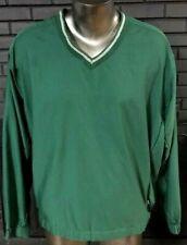 Nike Golf Jacket Green V-Neck Pullover Windbreaker Men's L