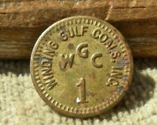 old WINDING GULF WEST VIRGINIA WV (tiny,  RALEIGH CO) COAL MINE STORE 1c TOKEN