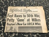 APRIL 9 1975 NATIONAL SPEED & SPORTS NEWS car racing newspaper - FOYT - PETTY