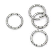 200 Stainless Steel Open  Rings 10mm Dia. Findings 32